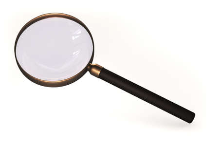 Magnifying glass isolated over a white background. photo