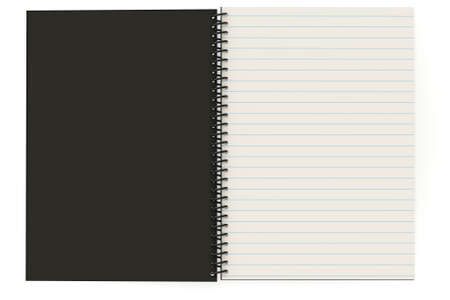 Blank notebook with copy-space. This is a 3D rendered picture.