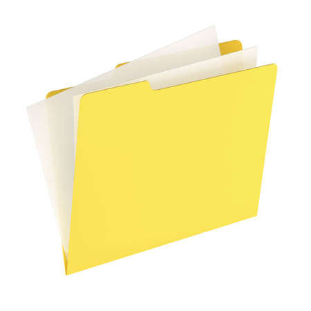 Folder icon isolated over a white background. This is a 3D rendered picture. Stock Photo - 860732