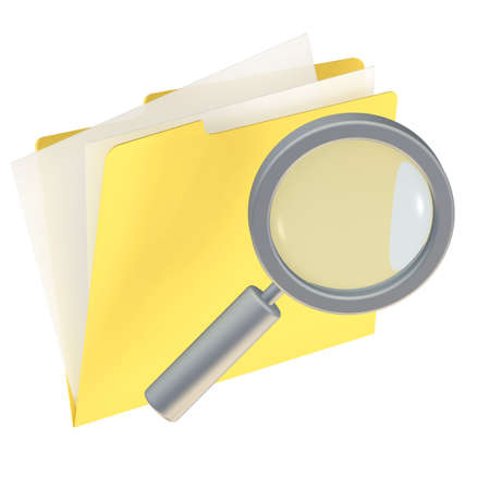 Folder icon isolated over a white background. This is a 3D rendered picture. Stock Photo - 860733