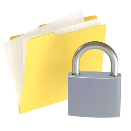 Folder icon isolated over a white background. This is a 3D rendered picture. Stock Photo - 860735