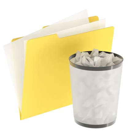 Folder icon isolated over a white background. This is a 3D rendered picture. Stock Photo - 860750