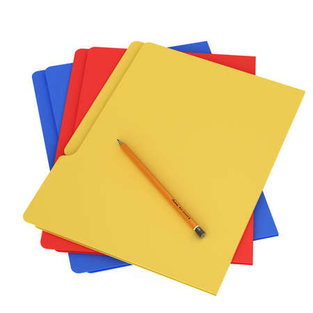Folder & document icon isolated over a white background. This is a 3D rendered picture. Stock Photo - 860759
