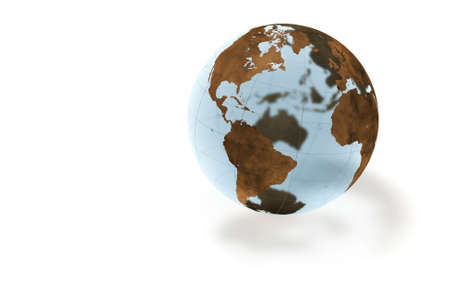 World crystal globe isolated over a white background. This is a 3D rendered picture. photo