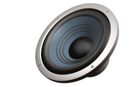 decibel: Speaker isolated over a white background. This is a 3D rendered picture.