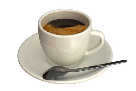 expresso: Espresso cup isolated over a white background.