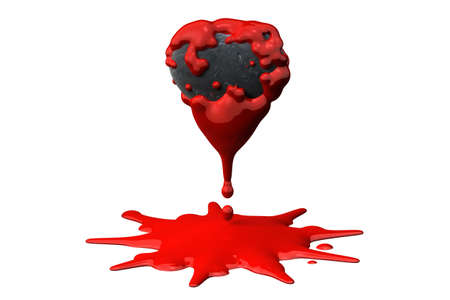 Bleeding heart of stone isolated over a white background. photo