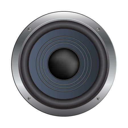 woofer: Speaker isolated over a white background.