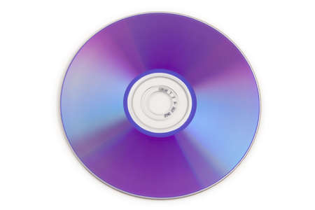 optical disk: Colorful DVD disks isolated over a white background.