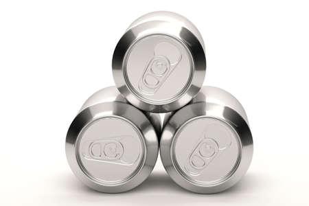 Aluminium soda cans isolated over a white background. Stock Photo - 3644938