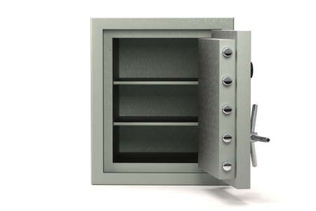 Bank safe isolated over a white background. Stock Photo - 3644935