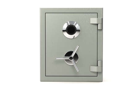 Bank safe isolated over a white background. Stock Photo - 3644931