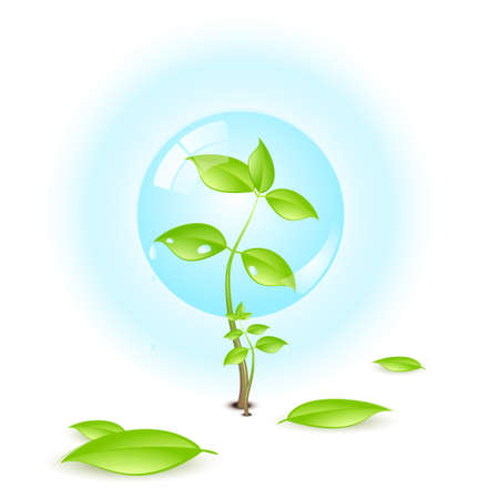 environmental awareness: Environmental conceptual illustration isolated over a white background. Illustration