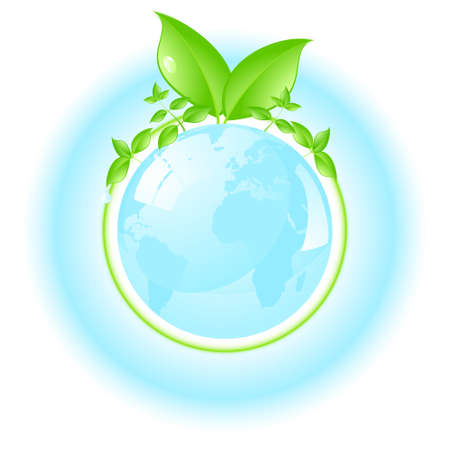air awareness: Environmental conceptual illustration isolated over a white background.