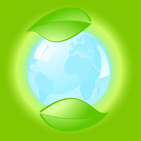 air awareness: Environmental conceptual illustration over a green background.