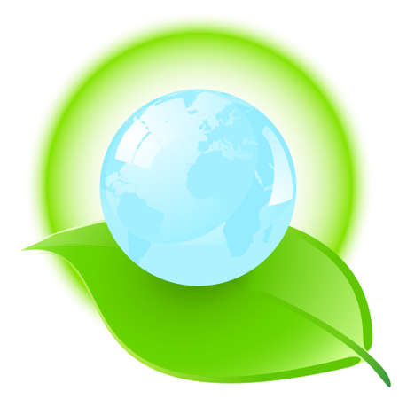 conciencia ambiental: Ilustraci�n conceptual ambiental aislado sobre un fondo blanco.