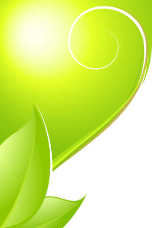 green  wave: Spring abstract background. Fully editable vector image.