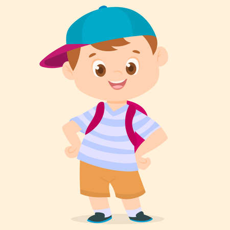 Little student with cap Ilustrace