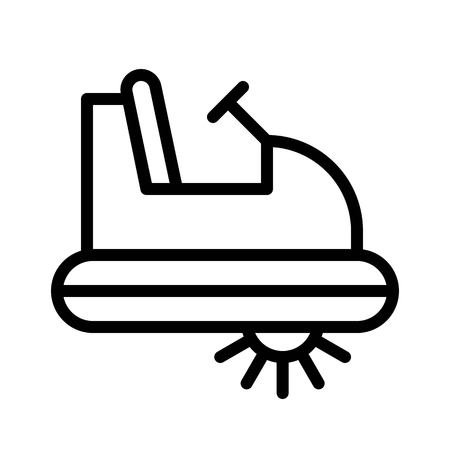 Pedal boat vector, Watercraft line design icon editable outline Иллюстрация