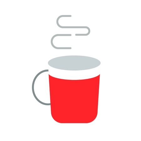 Hot drinks vector, Chirstmas related flat design icon