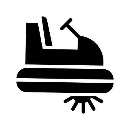 Pedal boat vector illustration, Watercraft solid design icon