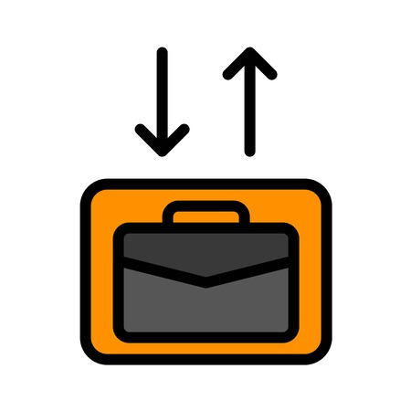 Checkin Checkout vector, Baggage filled design icon editable outline Иллюстрация