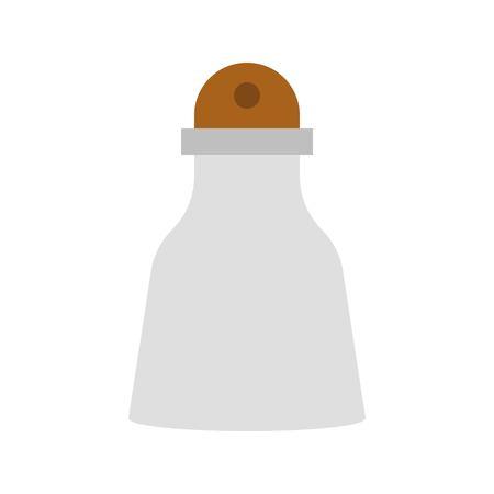 Salt shaker vector, grocery store related flat design icon Иллюстрация