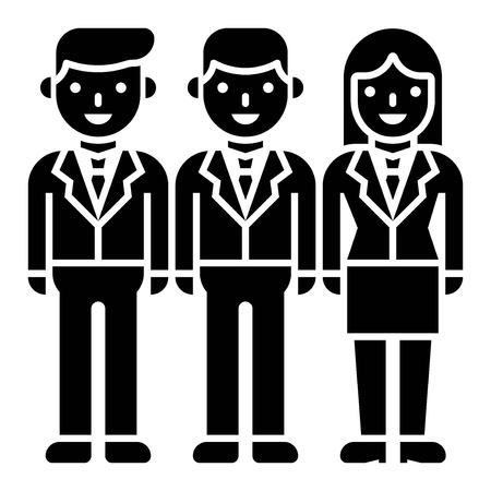 Business people team vector, solid design icon