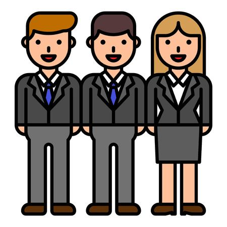 Business people team vector, filled design editable outline icon