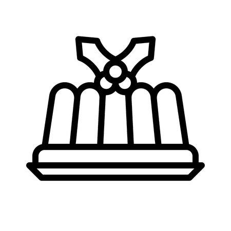 Jelly vector, Chirstmas menu line design icon, editable outline