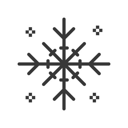 Snowflake vector, Chirstmas related solid design icon