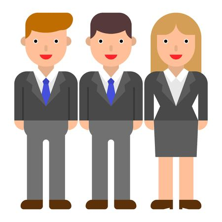 Business people team vector, flat design icon