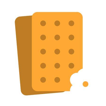 Cracker vector, Chirstmas menu flat design icon