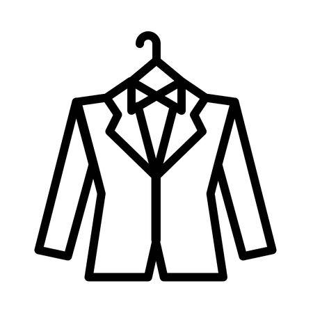 Groom dress vector, wedding related line design icon
