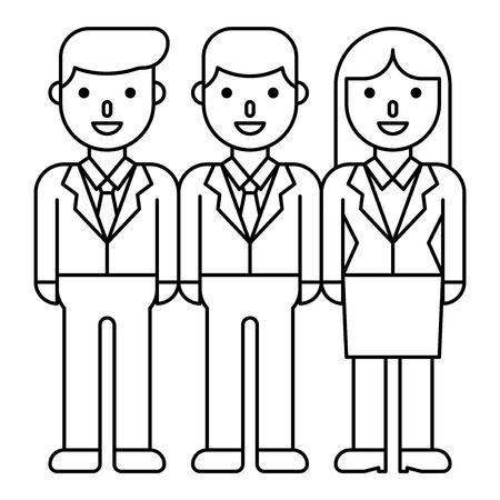 Business people team vector, line design icon