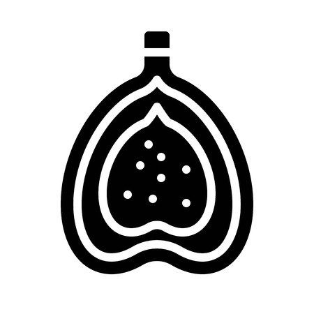 Fig vector, Chirstmas menu solid design icon
