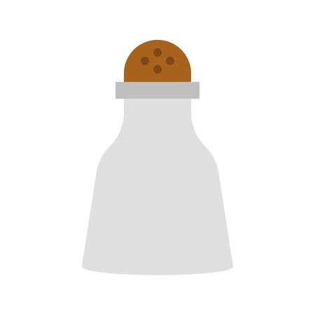 Pepper shaker vector, grocery store related flat design icon Иллюстрация