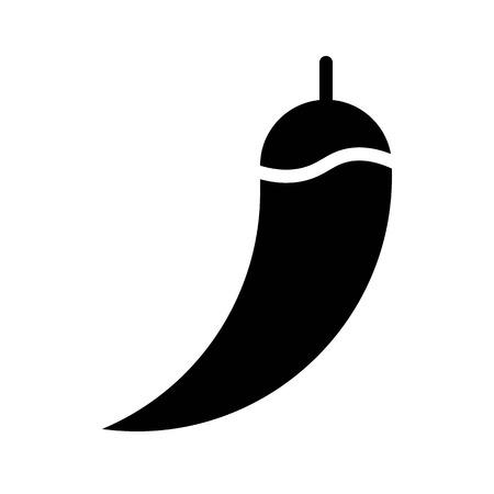 Chili vector, Barbecue related solid design icon Çizim