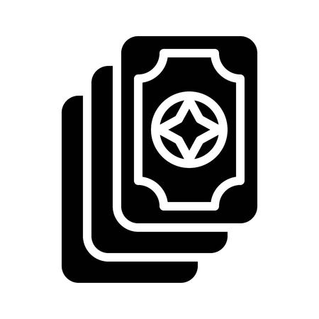 Card vector, Magic related solid design editable stroke icon