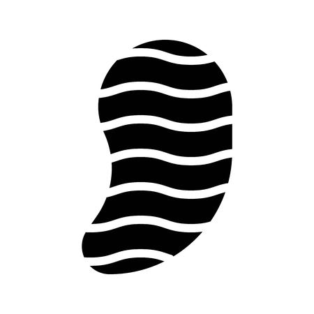 Steak vector, Barbecue related solid design icon