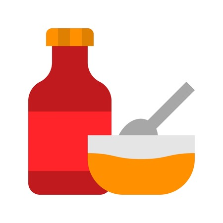 Sauce vector, Barbecue related flat design icon