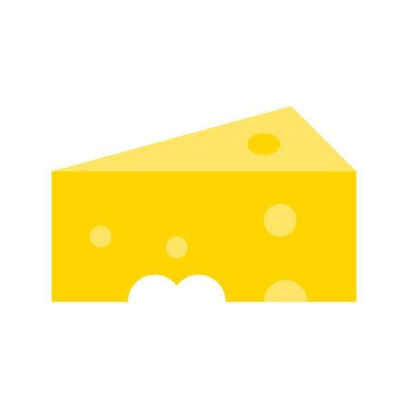 Cheese vector, Barbecue related flat design icon Ilustração