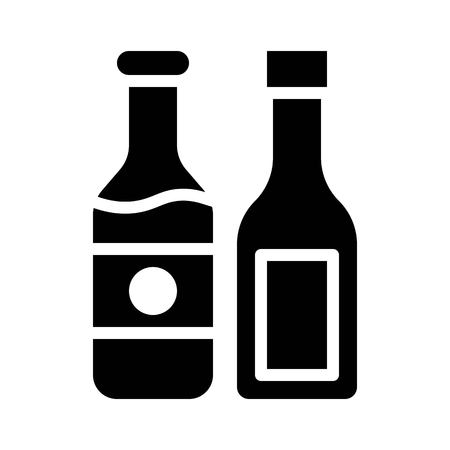 Ketchup vector, Barbecue related solid design icon