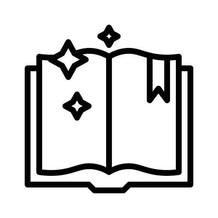 Spellbook vector, Magic related line design icon Illustration