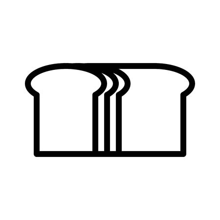 Loaf of bread vector, Barbecue related line design editable stroke icon