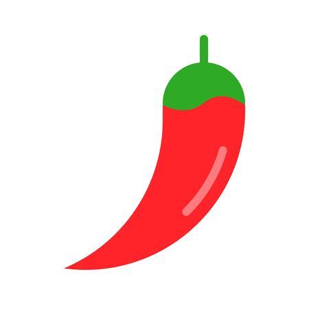 Chili vector, Barbecue related flat design icon Çizim