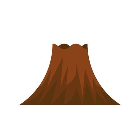 Volcano vector icon, isolated on white background