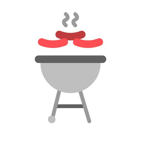 Barbecue grill vector, Barbecue related flat design icon
