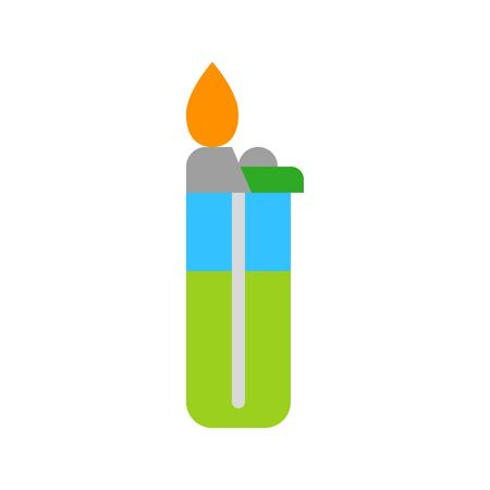 Lighter vector, Barbecue related flat design icon