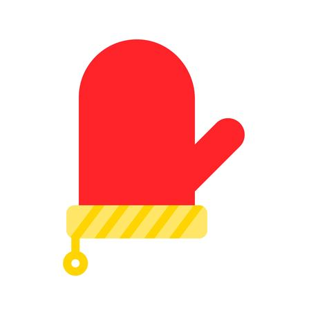 Kitchen mitten vector, Barbecue related flat design icon